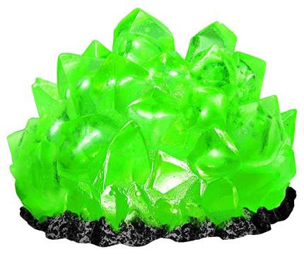 Декорация для аквариума Hydor Зеленый Изумруд с подсветкой, полиэфирная смола, 16х7х14 см