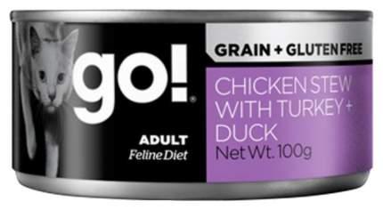 Консервы для кошек Go! Natural Holistic Grain Free курица, индейка, утка 100 г