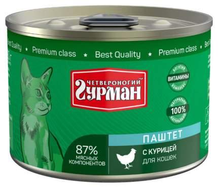 Консервы для кошек Четвероногий Гурман Паштет, курица, 190г