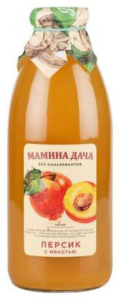 Нектар Мамина дача персик с мякотью 0.75 л