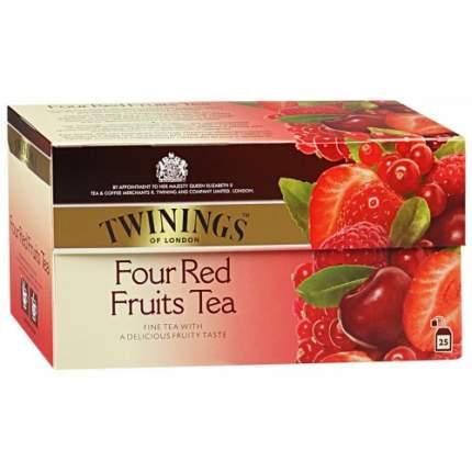 Чай черный Twinings четыре красные ягоды 25 пакетиков