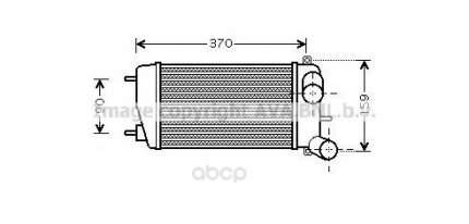 Радиатор охлаждения двигателя Citroen C2, C3 Ava CNA4212
