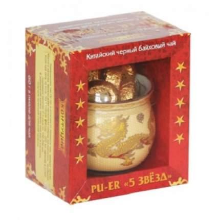 Чай черный в таблетках Конфуций pu-er пять звезд 58 г