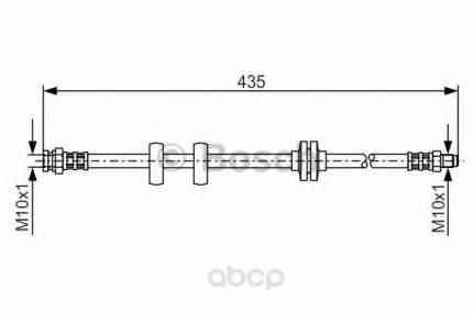 Шланг тормозной системы Bosch 1987476788 передний