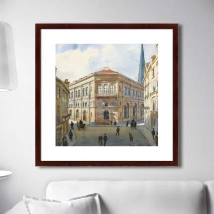 Картина VIEW OF THE RIGA STOCK EXCHANGE, 1880г,, 78,5х78,5см, Картины в Квартиру