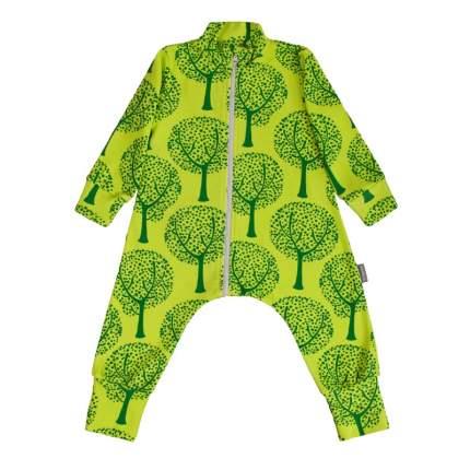 Комбинезон-пижама Bambinizon Деревья ЛКМ-БК-ДЕР р.62