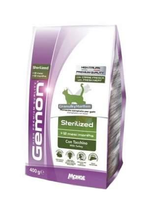 Сухой корм для кошек Gemon Sterelized, для стерилизованных, индейка, 0,4кг
