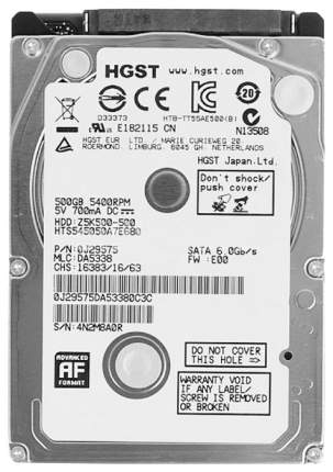 Внутренний жесткий диск HGST Travelstar Z5K500 500GB (HTS545050A7E680)