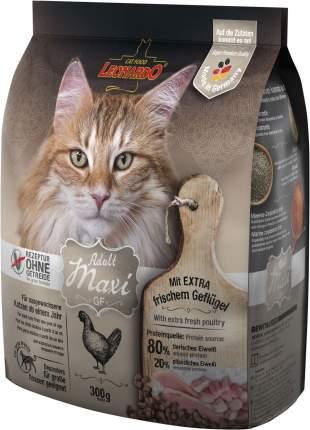 Сухой корм для кошек Leonardo Adult Maxi GF, беззерновой, для крупных пород, курица, 0,3кг