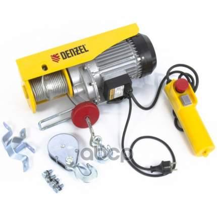 Тельфер электрический TF-800, 0,8 т, 1300 Вт, высота 12 м, 8 м/мин // DENZEL