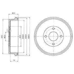 Тормозной барабан DELPHI BF314