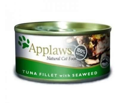 Консервы для кошек APPLAWS с филе тунца и морской капустой 70 г