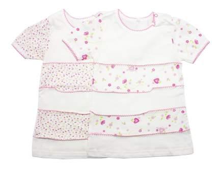 Платье для девочек Осьминожка 123-114-24/80 белый р.80