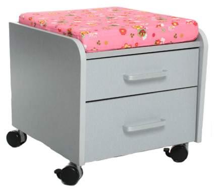 Тумбочка Comf-Pro BD-C2 розовый со зверями, серый