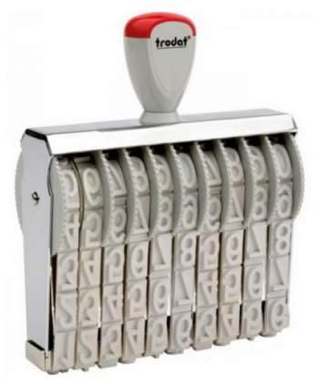 Нумератор ленточный Trodat Classic Line 151810. 10 разрядов. Высота шрифта: 18 мм