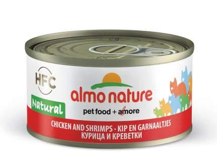 Консервы для кошек Almo Nature HFC Natural, курица и креветки, 70г