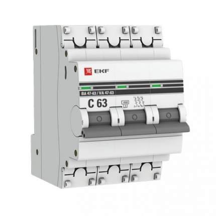 Автоматический выключатель EKF mcb4763-3-63C-pro