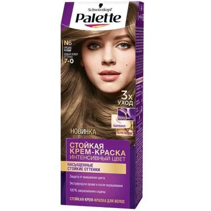 Краска для волос Palette Стойкая крем-краска N6 Средне-русый