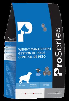 Сухой корм для собак ProSeries Weight Management, для пожилых малоактивных, курица, 2,72кг