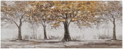 Репродукция 125х50 см Hoff Осенний лес