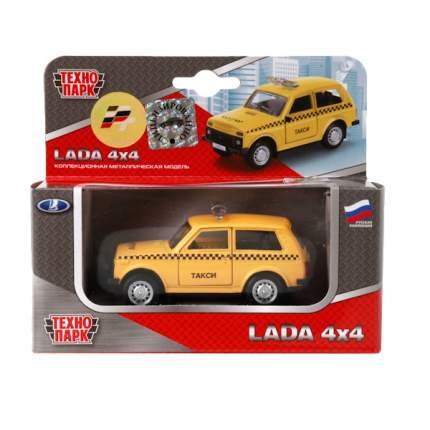 Машина Технопарк инерционная, металлическая такси 6400d