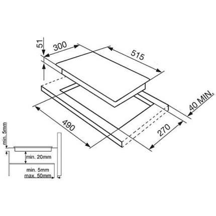 Встраиваемая варочная панель индукционная Smeg SI5322B Black