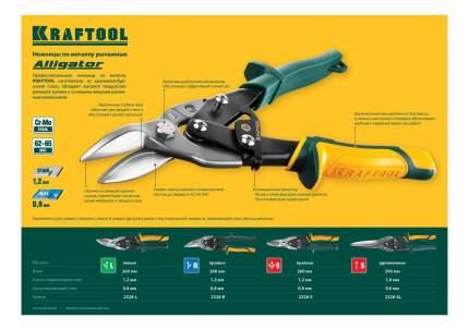 Ручные ножницы по металлу KRAFTOOL 2328-L