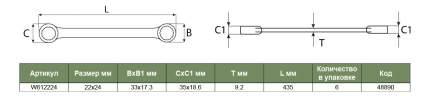 Накидной ключ JONNESWAY W612224