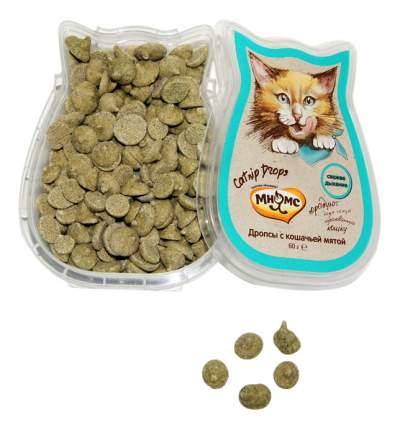 Лакомство для кошек МНЯМС Catnip Drops с кошечьей мятой, 60г