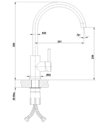 Смеситель для кухонной мойки LEMARK Expert LM5078S хром
