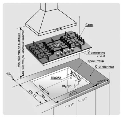 Встраиваемая варочная панель газовая GEFEST СГ СВН 2230 К28 White