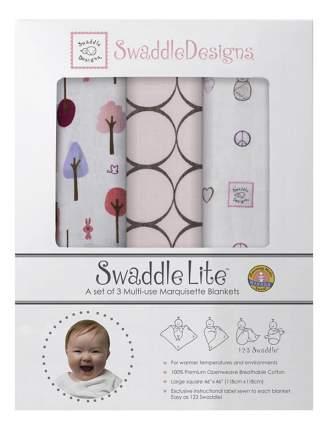 Набор пеленок SwaddleDesigns Mocha Cute and Calm (120x120 см), 3 шт.