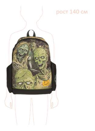 Рюкзак детский Mojo Pax Walking Dead светящийся в темноте черный с наушниками