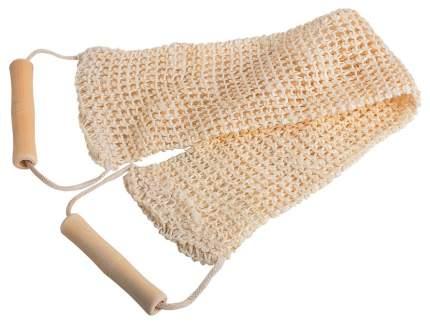 Мочалка для тела Банные Штучки Лента из сизаля с деревянными ручками