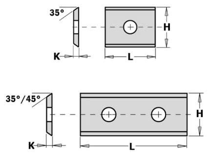 нож твердосплавный 60x12x1.5 U2300 CMT 790.600.03