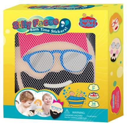Интерактивная игрушка для купания Barney & Buddy Стикеры для ванны Смешные лица