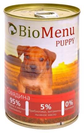 Консервы для щенков BioMenu Puppy, говядина, 410г