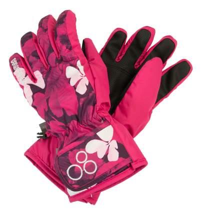 Перчатки Huppa Rixton 1 фуксия с принтом