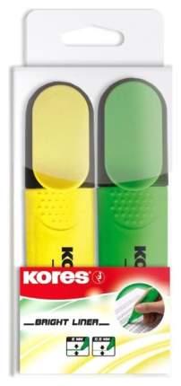 Набор Kores маркеров-текстовыделителей 2шт