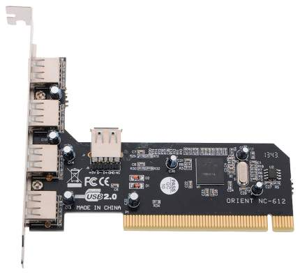 PCI-e контроллер USB ORIENT NC-612 4+1 Port USB 2.0 Hub PCI card NEC D720100AGM