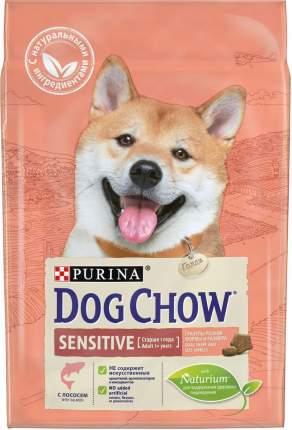 Сухой корм для собак Dog Chow Sensitive, с чувствительным пищеварением, лосось, рис, 2,5кг