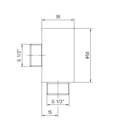 Подключение для душевого шланга E.C.A 102126634EX