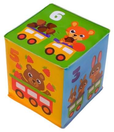 Мягкие кубики Цифры, Мамы и малыши со свистулькой, 7х7 см, для купания 2 шт. Крошка Я