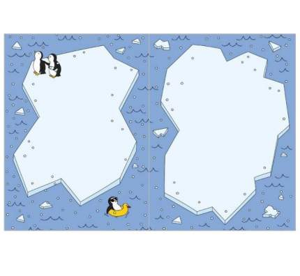 "Открытка ""Пингвины"", 10 х 15 см"