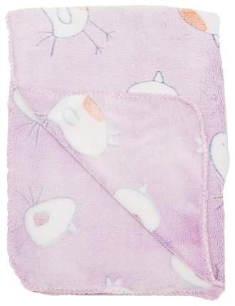 """Плед-покрывало """"Птичка"""", велсофт 2-стороннее, 100х150 см, цвет розовый"""
