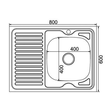 Мойка для кухни из нержавеющей стали MIXLINE 528181
