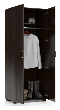 Платяной шкаф Компасс-мебель Монблан МБ-1 KOM_MB1_2 80x50x200, венге