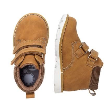 Ботинки Chicco Flok, для мальчиков, р.23, цв. жёлто-коричневый