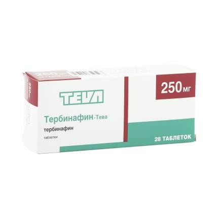 Тербинафин-Тева таблетки 250 мг 28 шт.