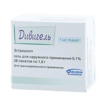 Дивигель гель 1 мг 28 шт.